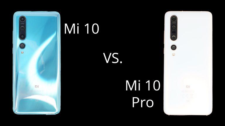 Xiaomi Mi 10 vs Xiaomi Mi 10 Pro Header